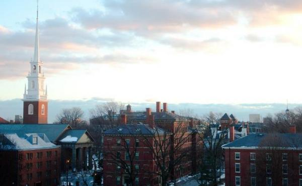 A general view of the Harvard campus.