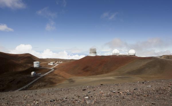 Telescopes on the summit of Mauna Kea on Hawaii's Big Island. Some native Hawaiians consider Mauna Kea sacred and object to construction of a new giant telescope there.
