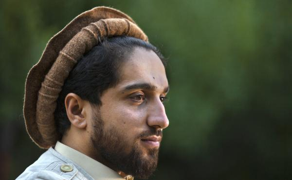 The U.K.-educated Ahmad Massoud (shown here in 2019) is the son of legendary commander Ahmad Shah Massoud and, like his father, is amassing resistance forces in Panjshir province.
