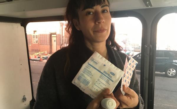 Sheila Dhand, a wound care nurse, treats many people who use drugs via mobile unit.