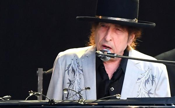 Bob Dylan performs in London in 2019.