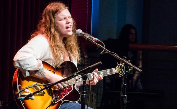 Marcus King performs solo in front of an intimate audience at The Lounge at World Cafe