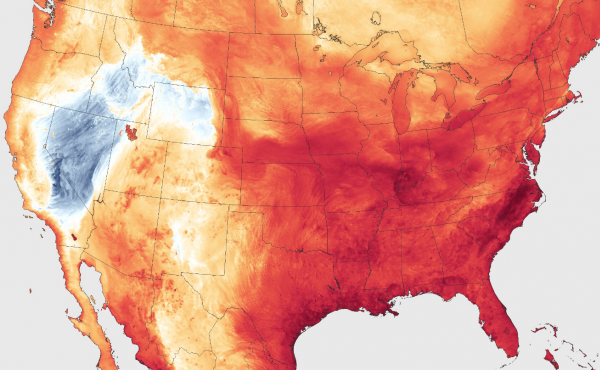 """Forecasters are predicting extreme heat and a high pressure ridge to create a """"heat dome"""" across a large section of the United States."""