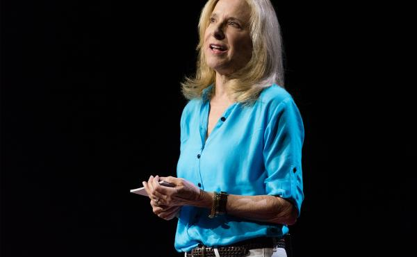 Helen Fisher on the TED stage.