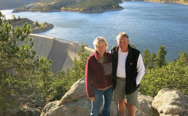 Beverly Kurtz and Tim Guenthner live near Gross Reservoir outside Boulder, Colo. They oppose a an expansion project that would raise the reservoir's dam by 131 feet.