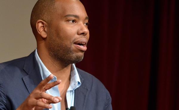 Author Ta-Nehisi Coates speaks at the Harvard University John F. Kennedy School of Government John F. Kennedy Jr. Forum Institute of Politics.