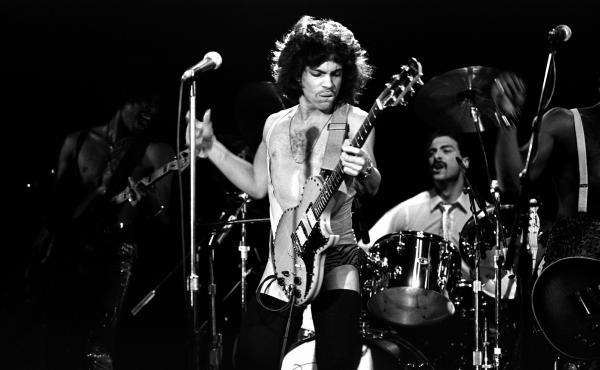 Prince performs in New York in 1981, on tour behind his third album, Dirty Mind.