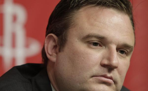 Houston Rockets general manager Daryl Morey discusses the direction of the team with the media during a basketball news conference in Houston in 2011.