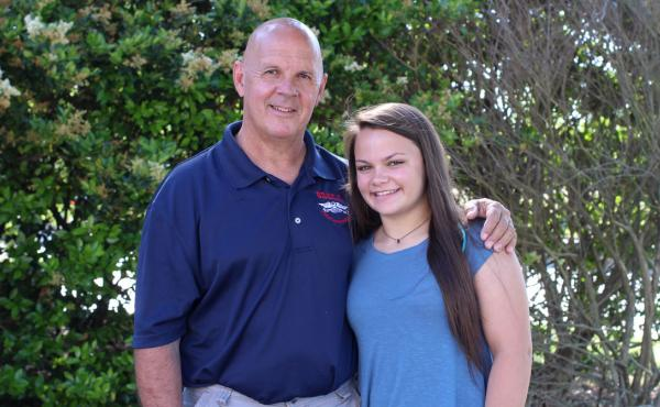 Greg Force and Abby Force at StoryCorps in Greenville, S.C.
