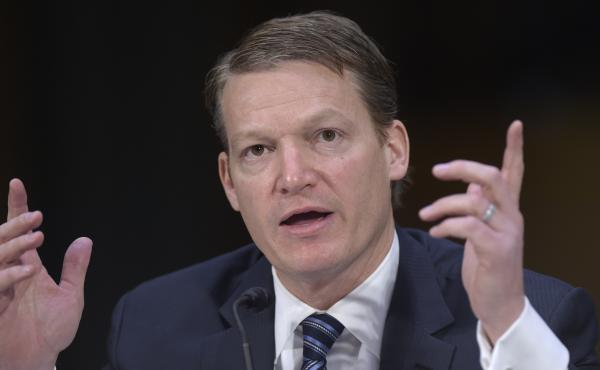 Kevin Mandia, CEO of the cybersecurity firm FireEye, testifies before the Senate Intelligence Committee in 2017. Mandia's company was the first to sound the alarm about the massive hack of government agencies and private companies on Dec. 8.