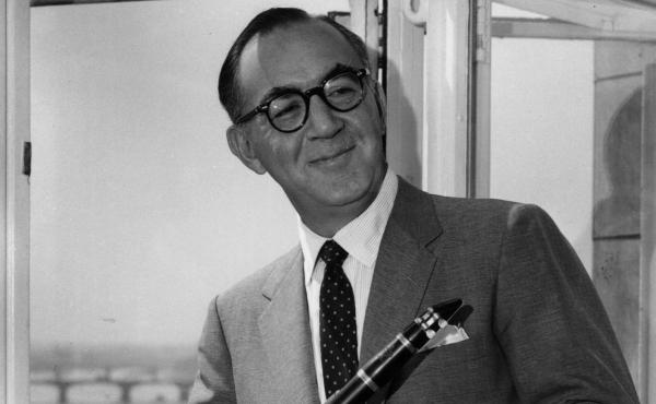 Clarinetist and band leader Benny Goodman, photographed in 1959, made history as the first musician to perform jazz with an integrated band in Carnegie Hall in 1938.