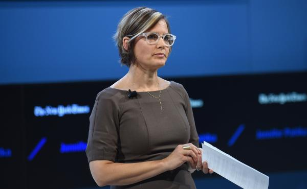 Code for America founder and Executive Director Jennifer Pahlka speaks Nov. 10 at The New York Times DealBook Conference at Lincoln Center in New York City.