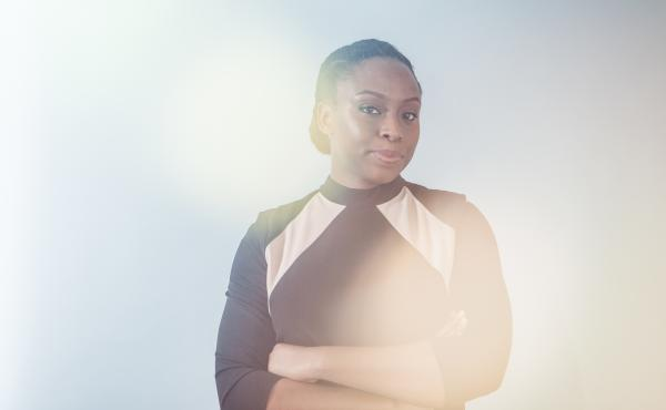 Chimamanda Adichie's novels include Americanah and Half of a Yellow Sun. The author is pictured here at NPR in February 2017.