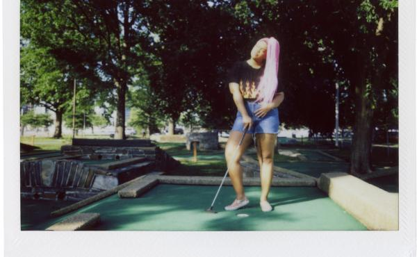 Jessica Jones spends her Friday evening mini-golfing at East Potomac Park Mini Golf.