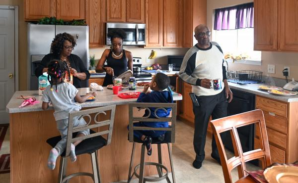 More than 64 million Americans live in multigenerational households. Despite the emotional and financial benefits of living together, families like the Walkers, at home in Florissant, Mo., face a particular set of challenges as COVID-19 continues to sprea