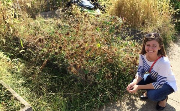 Here I am in 2015 confidently posed by the weeds I was ready to conquer.