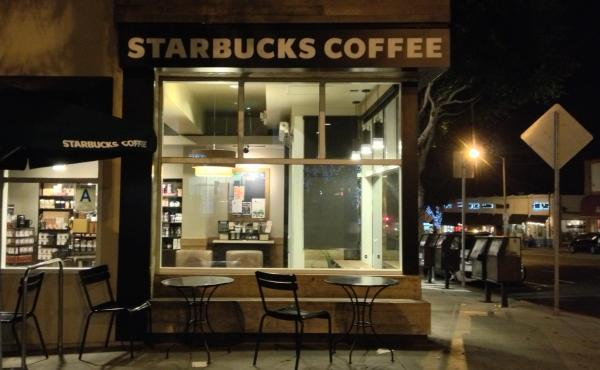 A Starbucks in Santa Monica, Calif. With no other place to go, many of Los Angeles' homeless end up at the chain's outlets — to the consternation of some employees.