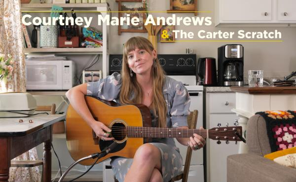 """Courtney Marie Andrews demonstrates how to play the """"Carter scratch"""""""