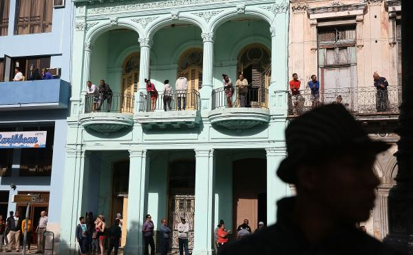 People wait to see President Obama on his way to make a televised address to the Cuban people in Havana on March 22. President Obama's opening to Cuba was carried out largely by executive orders that could be reversed when Donald Trump enters the White Ho
