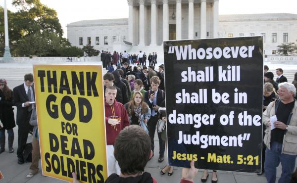In 2010, the Supreme Court ruled in favor of the Westboro Baptist Church's right to protest at funerals, arguing that even hateful speech, when addressing matters of pubic import on public property, should be protected.