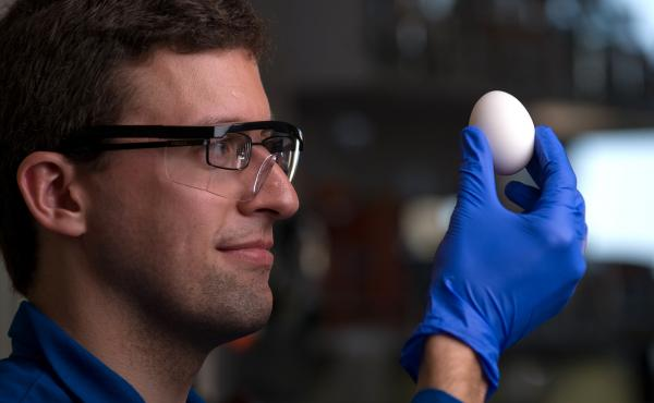 Steve Kudlacek is an undergraduate at the University of California, Irvine who helped Professor Greg Weiss develop a way to unboil an egg.