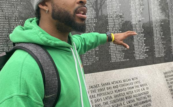 Sampson Levingston, of Through2Eyes, runs walking tours focusing on Indianapolis' Black neighborhoods and history.