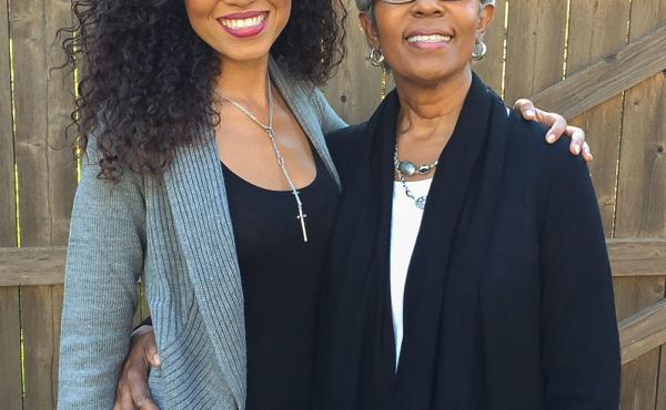 Sada Jackson with her mother, Ileana Watson, in October 2014, when Ileana and her three children participated in a family Breast Cancer Walk together.