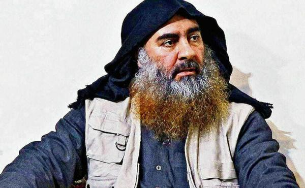 The late ISIS leader Abu Bakr al-Baghdadi in an undated picture released this week by the Pentagon.