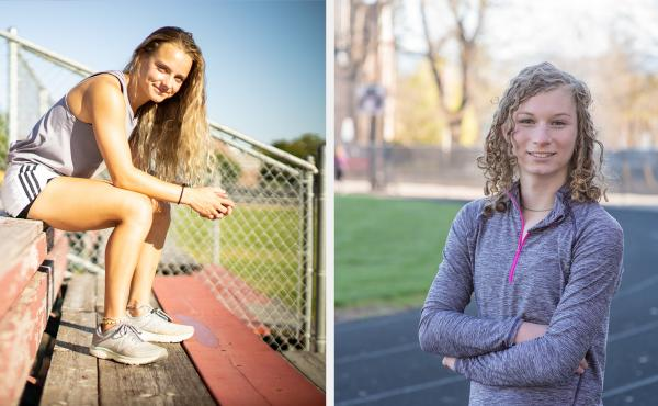 Madison Kenyon (left), who is cisgender, runs track and cross-country at Idaho State University. She supports Idaho's transgender sports ban. Lindsay Hecox (right) is transgender and hopes to make the women's track and cross-country teams at Boise State U