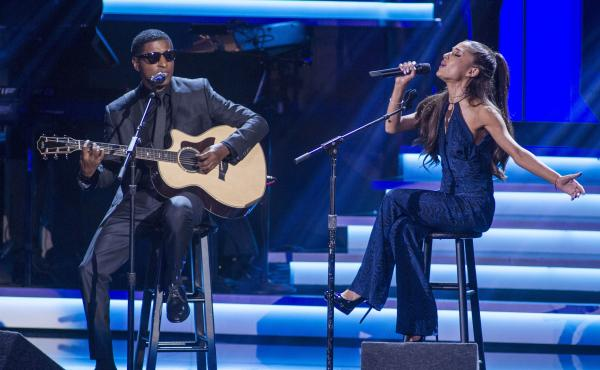 """Babyface's gift was """"to be able to see what was special in me,"""" says Karyn White, who had hits with the songwriter and producer in the late 1980s. Since then, he has shaped the sound of R&B via a string of collaborations. Here, he performs in 2015 with Ar"""
