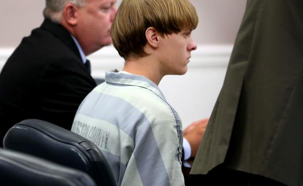 Dylann Roof appears at a court hearing in Charleston, S.C., in July 2015. Now found guilty of 33 federal hate crimes charges, Roof is defending himself during the sentencing phase of the trial.