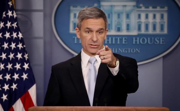 Ken Cuccinelli, the acting director of U.S. Citizenship and Immigration Services, said Monday at the White House that immigrants legally in the U.S. may no longer be eligible for green cards if they use food stamps, Medicaid and other public benefits.