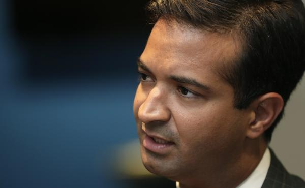 Rep. Carlos Curbelo, R-Fla., represents a district where 70 percent of his constituents are Hispanic and nearly half are foreign born.