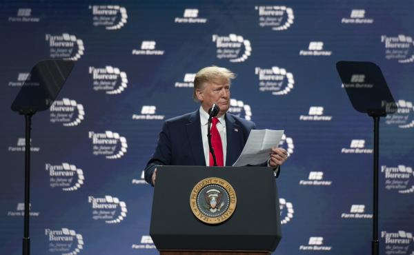 President Trump Addresses The American Farm Bureau Federation's Annual Convention