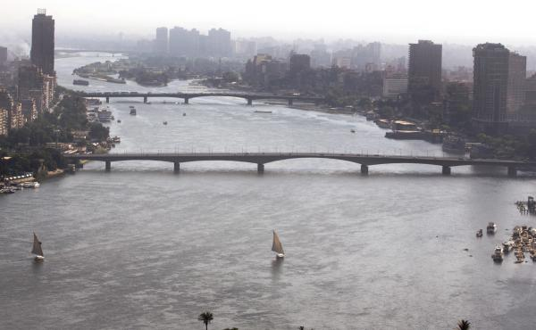 Boats sail on the Nile River in Cairo, Egypt, last October. Tensions between Egypt and upstream Nile basin countries, Sudan and Ethiopia, have flared up again over the construction and effects of a massive dam being built by Ethiopia on the Nile River.