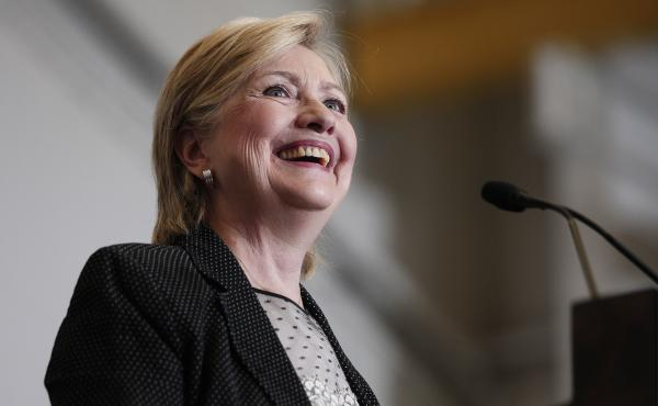 Democratic presidential nominee Hillary Clinton delivers a speech on the U.S economy in Warren, Mich., on Thursday.