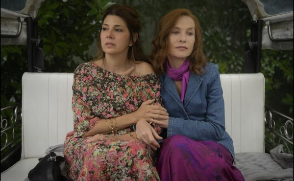 Frankie, starring Marisa Tomei (left) and Isabelle Huppert (right), follows a family reunion of three generations in Portugal.
