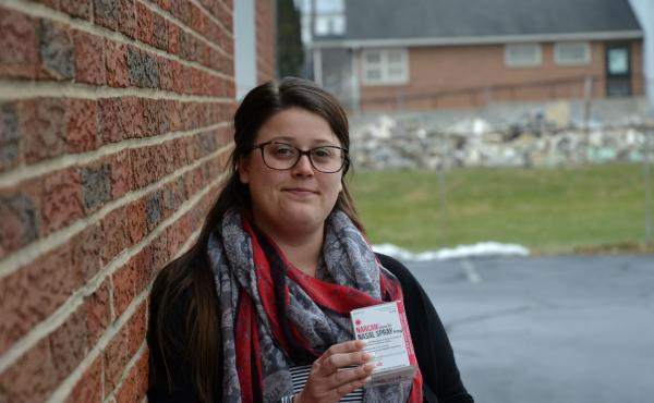 """People have to be alive to get the help that they need,"" said Brittney Webster, who got free naloxone at a health center in Carlisle, Pa."
