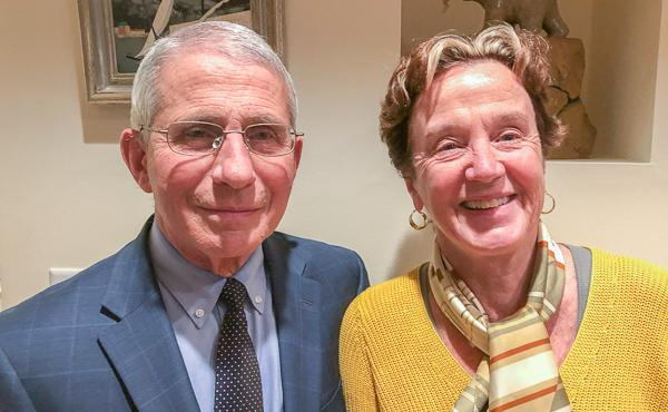 Anthony Fauci and his wife, Christine Grady, spoke for a StoryCorps interview in Maryland on Nov. 17. He says he'll miss seeing their daughters this Thanksgiving, but he's proud of their decision to not join them.