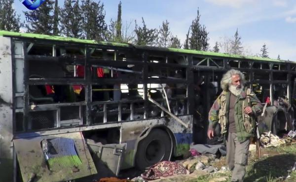 At least 39 were killed following a car bomb attack on buses carrying evacuees from government-held towns in Syria. An evacuation deal had stalled and the buses were stranded for some 30 hours prior to the attack.