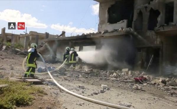 On May 6, an air strike destroyed Nabd Al-Hayat hospital in Syria's Idlib province.