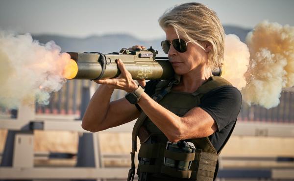 Linda Hamilton returns as Sarah Connor in Terminator: Dark Fate.