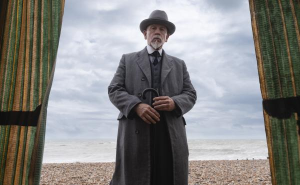John Malkovich plays Agatha Christie's iconic detective Hercule Poirot in the three-part Amazon Prime miniseries, The ABC Murders.