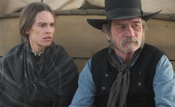 Hilary Swank and Tommy Lee Jones in The Homesman.