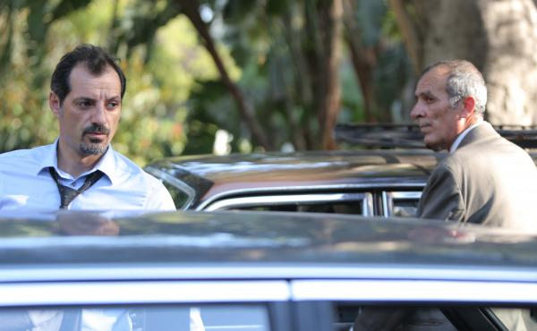 In The Insult, a minor argument between a Lebanese Christian named Toni (Adel Karam, left) and a Palestinian refugee named Yasser (Kamel El Basha) spirals out of control.