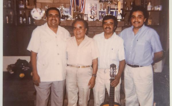 The Aldaco family of Phoenix suffered multiple losses in this year of unfathomable pain. Three brothers perished in the pandemic: Jose (left) in July, Heriberto Jr. (right) in December and Gonzalo (holding guitar) in February. They appear in this undated