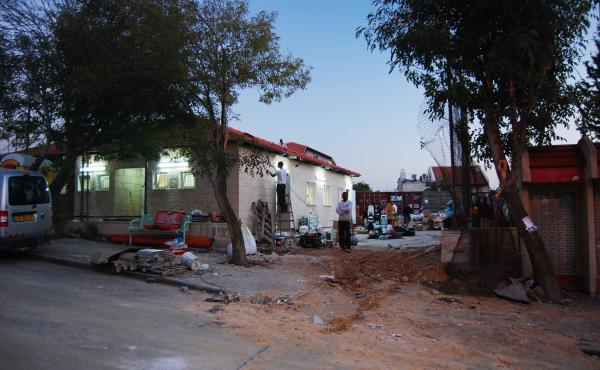 A new synagogue went up almost overnight as the older one was being taken down. They are only a block apart, but the new one is on land that is not part of this lawsuit.