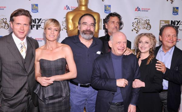 "Cary Elwes, Robin Wright, Mandy Patinkin, Chris Sarandon, Wallace Shawn, Carol Kane, and Billy Crystal attend the 25th anniversary screening & cast reunion of ""The Princess Bride"" in New York City in 2012. Several cast members are reuniting for a virtual"