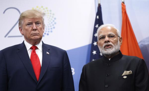 President Trump meets with Indian Prime Minister Narendra Modi in Buenos Aires, Argentina, in November. On Monday, Trump announced he would be ending preferential trade treatment for India.