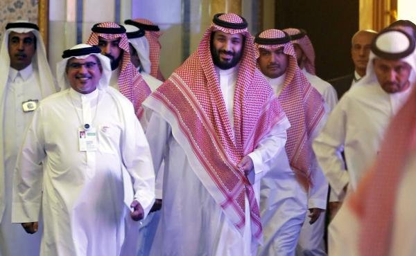 Saudi Crown Prince Mohammed bin Salman attends the Future Investment Initiative conference, in Riyadh, Saudi Arabia, on Oct. 24, 2018. Many major executives backed out of the event after the killing of journalist Jamal Khashoggi. This year, some of the bi
